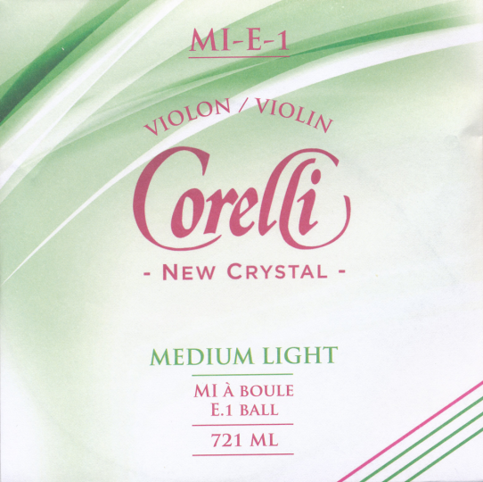 CORELLI Crystal corda MI  per violino con sfera, med.light