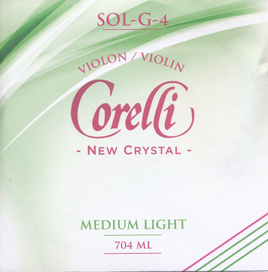 CORELLI Crystal corda SOL per violino, med.light