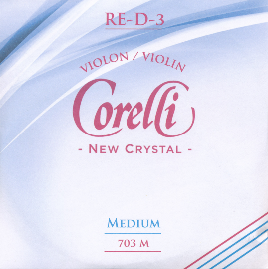 CORELLI Crystal corda RE per violino, medium