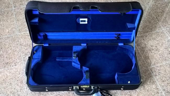 Winter 3032 custodia doppia violino/viola nero/blu