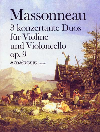 Massonneau , Drei konzertante Duos op. 9