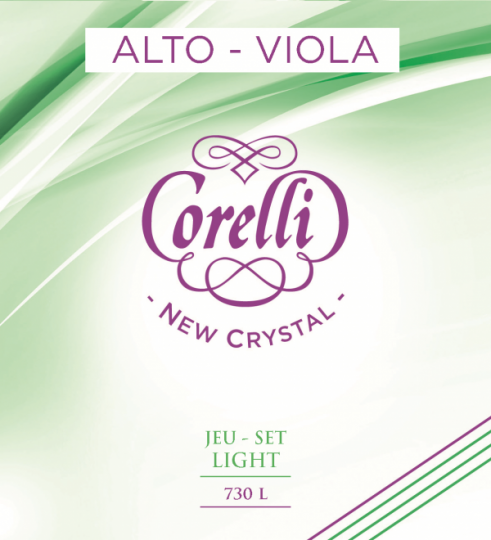 CORELLI  Crystal corda RE per viola, light