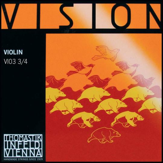 THOMASTIK VISION CORDA RE PER VIOLINO 3/4, medium
