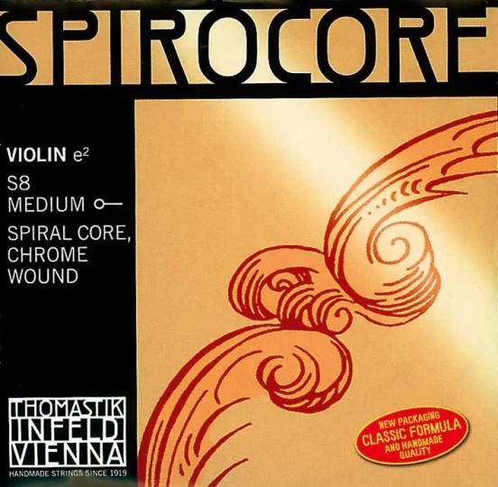 THOMASTIK  Spirocore corda MI  per violino cromo con cappio