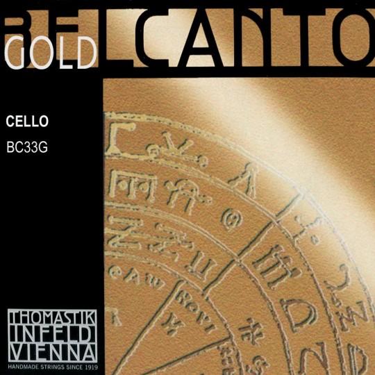 THOMASTIK  Belcanto Gold  corda per violoncello DO, medium