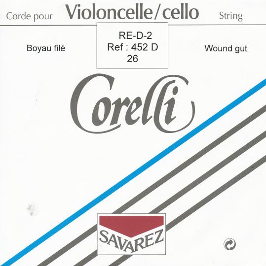 CORELLI  budello corda RE 26 per violoncello rivestita in alluminio