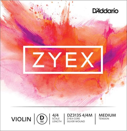 D´ADDARIO Zyex Violin corda RE argento, medium