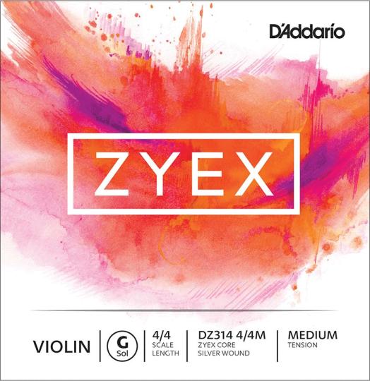 D´ADDARIO Zyex violino corda SOL, medium