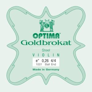 Optima Goldbrokat violino MI con sfera 26