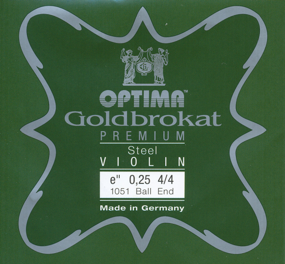 Optima Goldbrokat Premium VIOLINO MI CON sfera