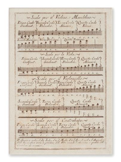 cartolina Scalo Violino