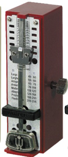 Wittner, taktell Super-Mini, metronomo rosso
