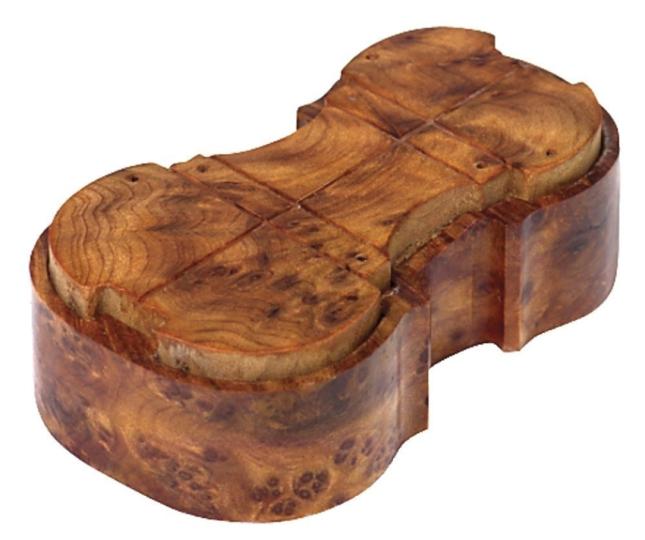 Rosina pece in scatola di legno