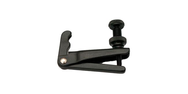 Fix tiracantini 1/2-1/4 per violoncello per corde in acciaio, nero